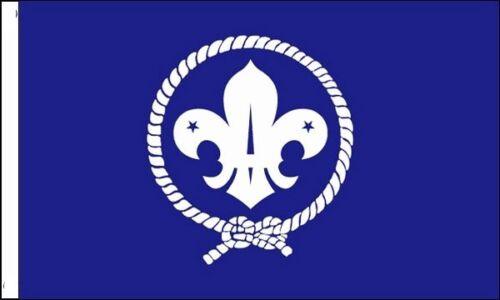 Scouts Bleu avec Manches Drapeau Compatible pour Bateaux 45cm X 30cm