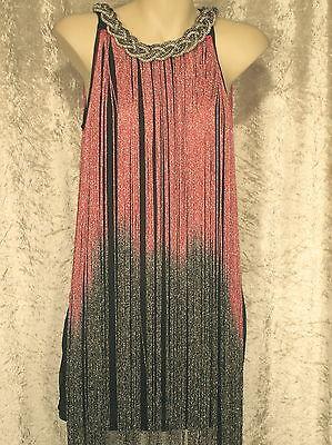 1920 Great Gatsby Style Flapper Party Dresses Clubwear Fringe  Beaded Neckline M