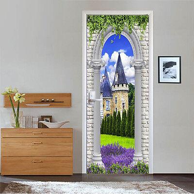 3D Plants Arches 3 Door Wall Mural Photo Wall Sticker Decal Wall AJ WALLPAPER AU