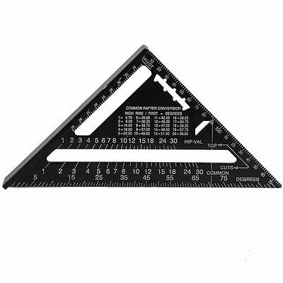 7 inch ruler Metric system Silver Aluminum Alloy Speed Square Roofing Triangle
