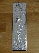 NICKEL PLATED ARTS & CRAFTS FINGER DOOR PUSH PLATE FINGERPLATE