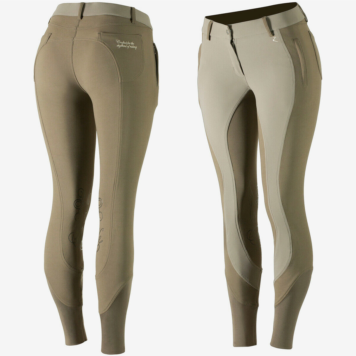 Horze Kiana  Water and Dust Repellent Women's Knee Patch Riding Breeches  no.1 online
