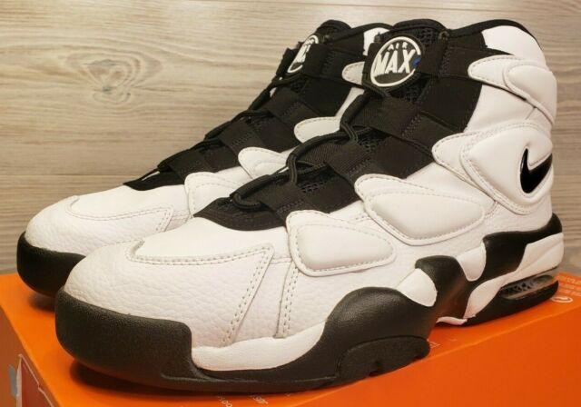 Nike Air Max 2 Uptempo 94 Men's 10.5 White Black Basketball Shoes 922934 102