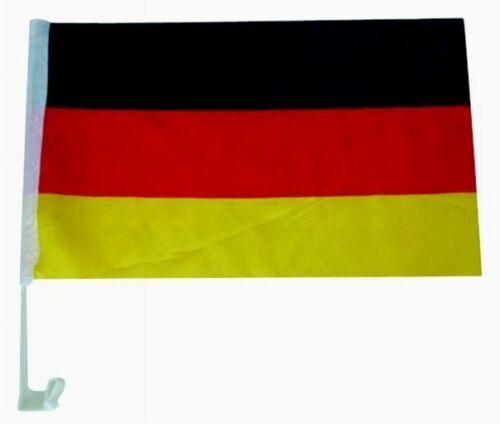 """AUTO Bandiera /""""Germania/"""" con supporto dischi 30x45cm-NUOVO /& Subito"""