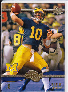 Details about Tom BRADY NCAA College MICHIGAN WOLVERINES Football Card UD  SWEET SPOT