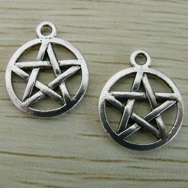 150Pcs Tibetan Silver Five-pointed Star Pendants Charms 20x16mm 1A242