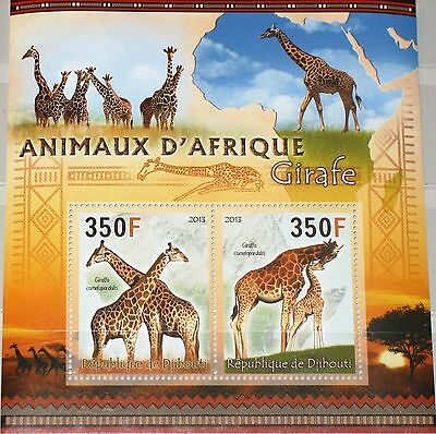 DJIBOUTI DSCHIBUTI 2013 unlisted Giraffen Girafe African Animals Tiere Fauna MNH