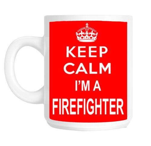 Keep Calm Je suis un pompier Cadeau Mug