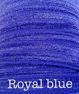 Royal Purple Fold Over Elastic 5 Yards