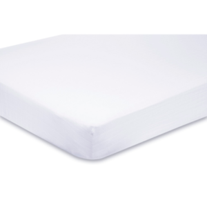 2x Cot Fitted Sheets 120x60 cm 100% Cotton Soft - Available in White