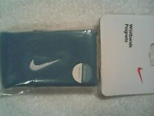 NEW Nike Reversible Wristbands Tennis Federer Nadal Tennis Blue /White Wristband