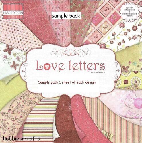 Dovecraft Papeles Cartas de amor 8 X 8 paquete de muestra 16 Hojas-trato de franqueo