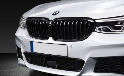 Genuine BMW M Performance Gloss Black Kidney Grilles 5 Series G30//31 2430994