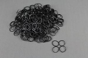 Black Set pack 1800 small tiny mini hair ties elastics rubber bands girl ... 2d87594d41b