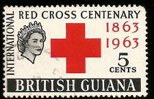 1963 BRITISH GUIANA 5c ROTES KREUZ QUEEN ELIZABETH II GEBRAUCHT