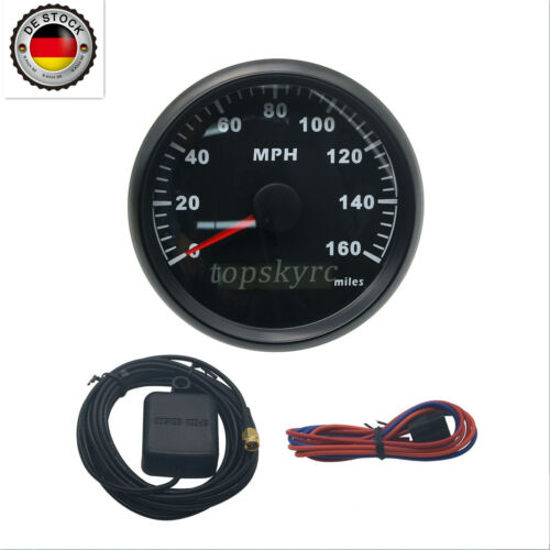 85mm GPS Speedometer Odometer 160MPH With Backlight for Car Motorcycle Truck EU
