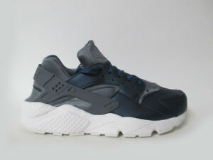 Womens Huarache Run Premium TXT Grey Navy Blue Sz 9.5 AA0523-001