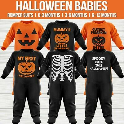 Cutest Pumpkin In the Patch Babygrow Halloween 1st Funny Cute New Baby Gift
