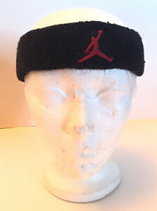 Nike-Air-Jordan-Fury-Headband-Sweat-Red-Jumpman-Logo-Black-Bandeau-Great