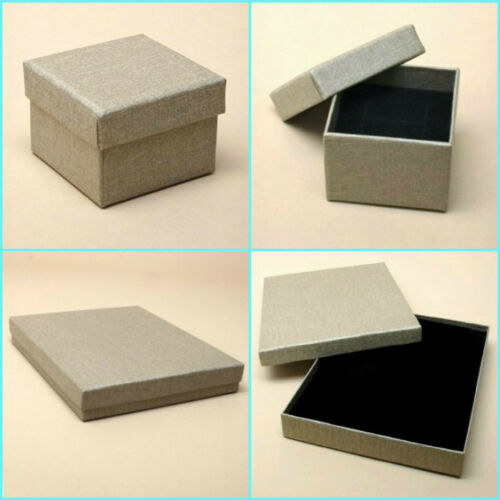 12 x Pack Linen Effect Taupe Gift Boxes// Jewellery Boxes//Wholesale//Job Lot