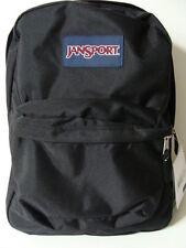 NWT JANSPORT Black SuperBreak Backpack Book Bag School Pack Boy Girls Tote NEW