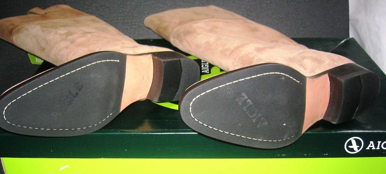 AIGLE CINCH Echt Leder Stiefel innen + außen Stiefel Stiefel Leder 38 / 5 NEU Reiter goldbraun bf0469