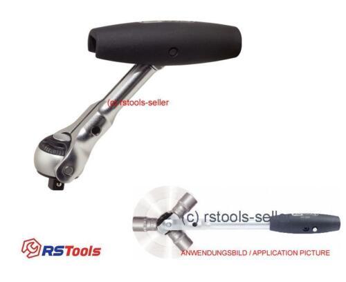 """KS Tools 3//8/"""" T-Griff-Schwenkkopf-Knarre 911.3890 Gelenk Ratsche Schwenkbar"""