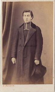 Ecclesiastico Foto E.Boivin CDV Vintage Albumina Ca 1860