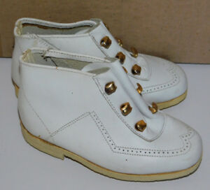 dbd6a5086ba90 vintage MADE in FRANCE ancien CHAUSSURES taille 21 ENFANT cuir KID ...