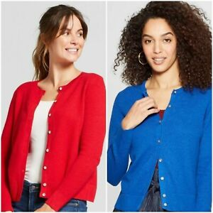 Women-039-s-Long-Sleeve-Any-Day-Cardigan-A-New-Day-Blue-or-Red-Various-Sizes-NWT