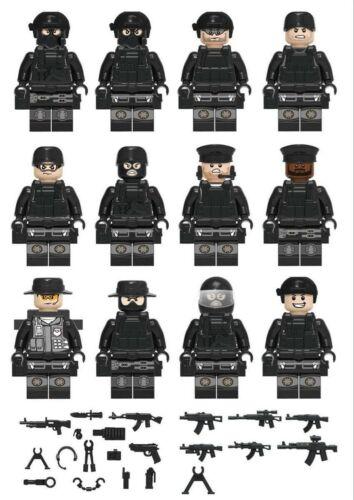 12pcs Lego Military SWAT Teams Figure Set City Police Weapon Block LEGO Toys NEW