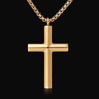 Kreuz Anhänger Gold Herren