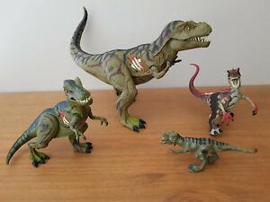 Jurassic Park 3 - Lot de 4 dinosaures  T-Rex re-ak a-tax électronic Hasbro