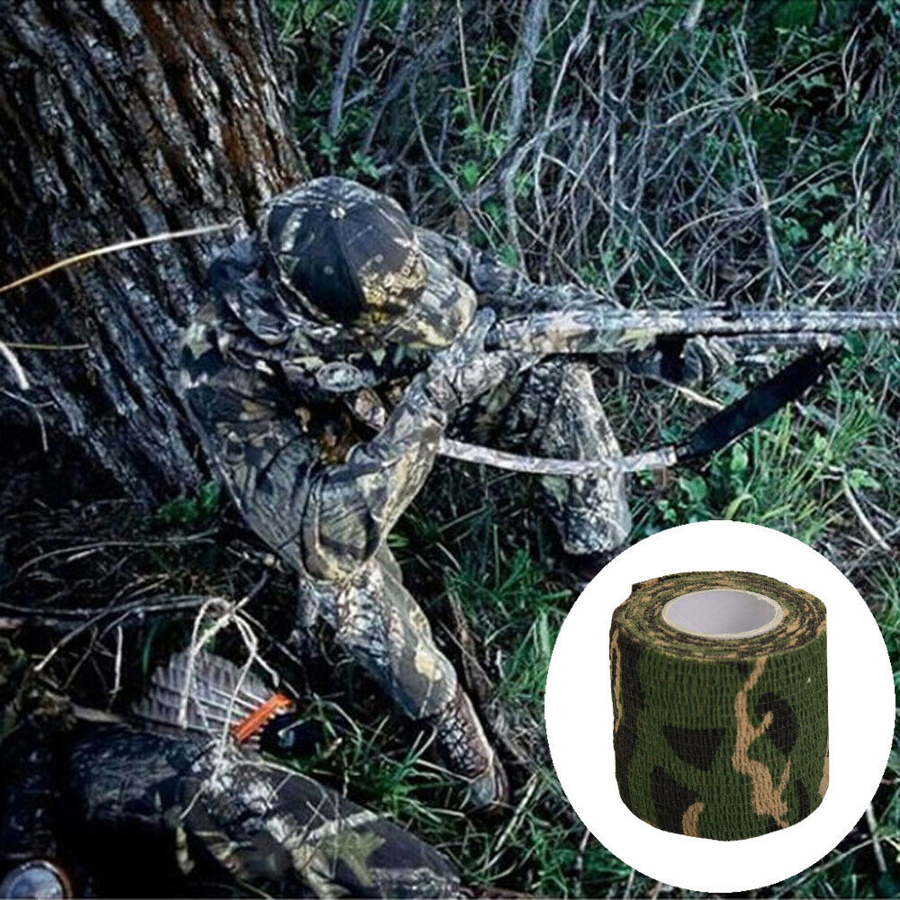 Details about  /Outdoor Camo Gun Hunting Waterproof Camping Camouflage Stealth Duct TapBCWKSHEN
