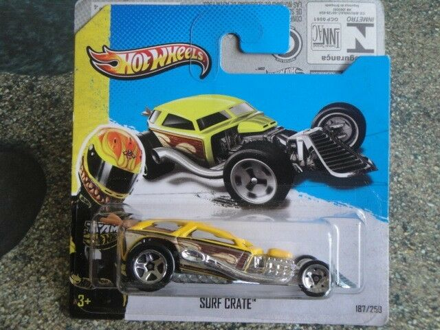 Hot Wheels 2013 #187/250 Surf Crate Hw Showroom Giallo