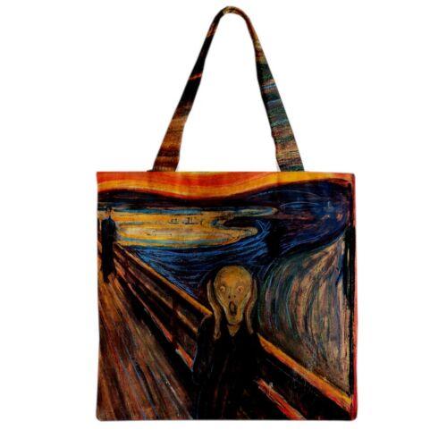Nouveau Edvard Munch the scream Pour Courses Sac Fourre-Tout Deux Côté livraison gratuite