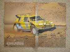* 1987 Paris Dakar Rally Ari Señor Vatanen nos Peugeot 205 T16 ganador Cartel *