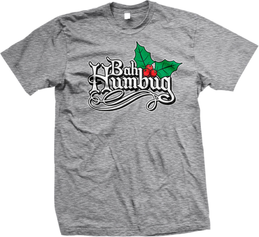 Bah Humbug Christmas-a-holic Love Hate Xmas Mens//Womens Funny T-Shirt