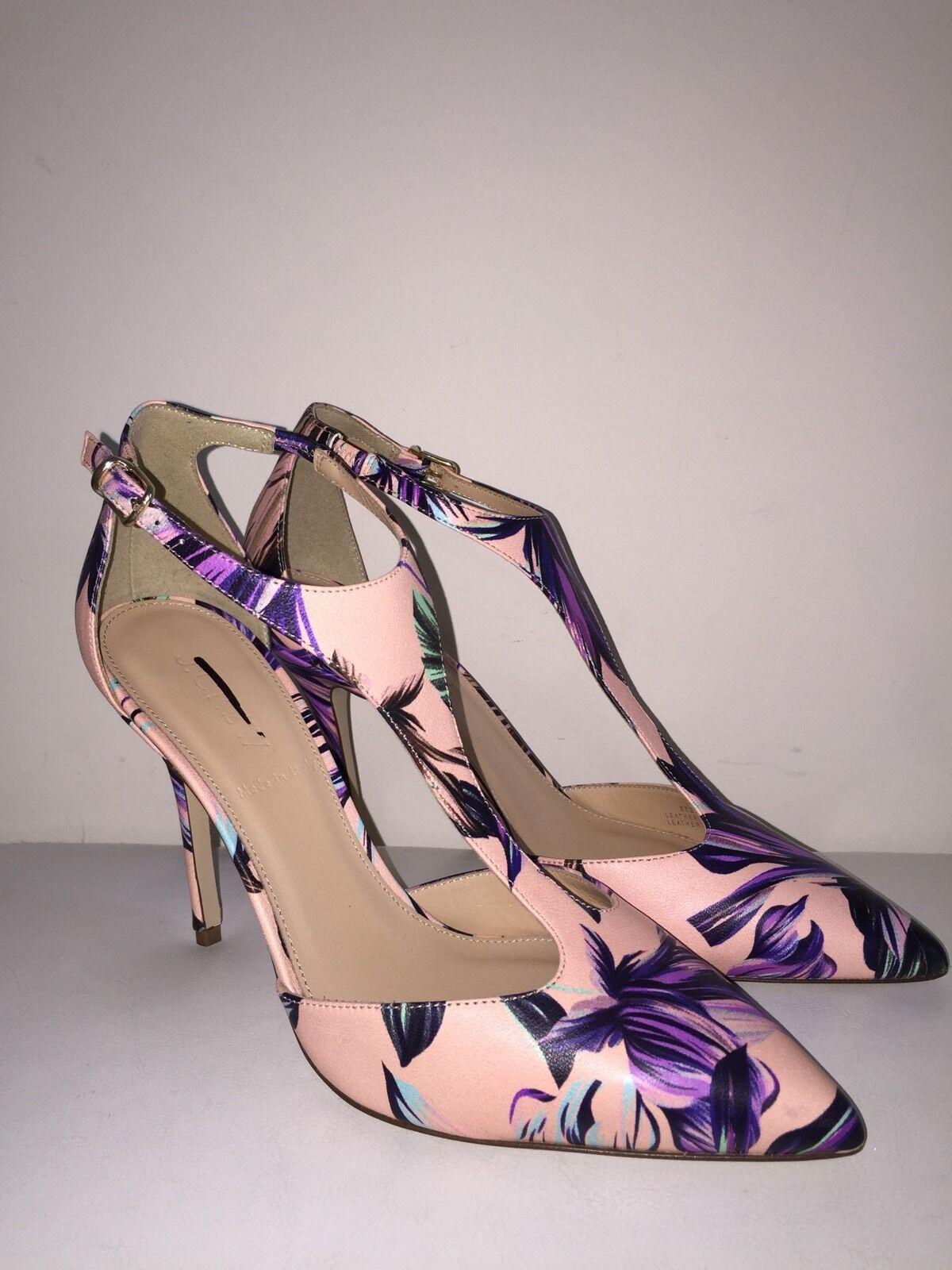 J Crew Damenschuhe Roxie T-strap pumps in romantic floral print Heels Schuhes 7 E7260