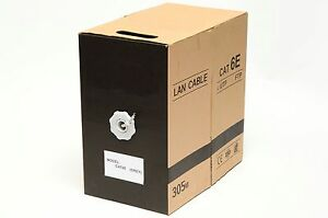 1000ft cat6e lan ethernet cable pull box utp cat 6e cca. Black Bedroom Furniture Sets. Home Design Ideas
