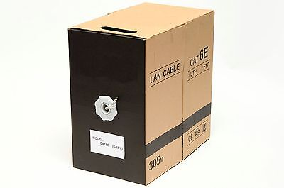 1000FT Cat6e LAN Ethernet Cable Pull Box UTP Cat-6e CCA Network Wire Grey