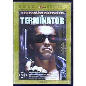 DVD-TERMINATOR-THE-SCHWARZENEGGER-2DISC-GOLD-EDITION-JAMES-CAMERON-ACTION-R4-VG