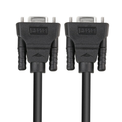DTECH 10 ft DB9 Serial Cable Female to Female 9 Pin Straight Through Cord Black