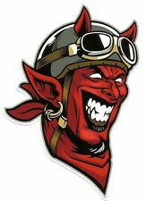 """DEVIL MOTORCYCLE DEMON"" Vinyl Decal Sticker INDIAN ARIEL BSA VINCENT RAT FINK"
