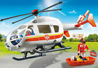 PLAYMOBIL 6686 City Life Emergency Medical Helicopter 29pc