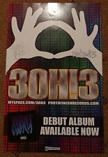 3OH!3 WANT ALBUM SIGNED 11X17 POSTER AUTOGRAPH MUSIC BAND WARPED TOUR.
