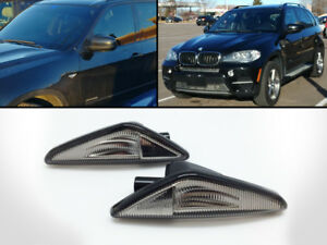 LED-Smoked-Side-Turn-Markers-Light-Fits-2007-2012-BMW-E70-X5-F25-X3-E71-E72-X6