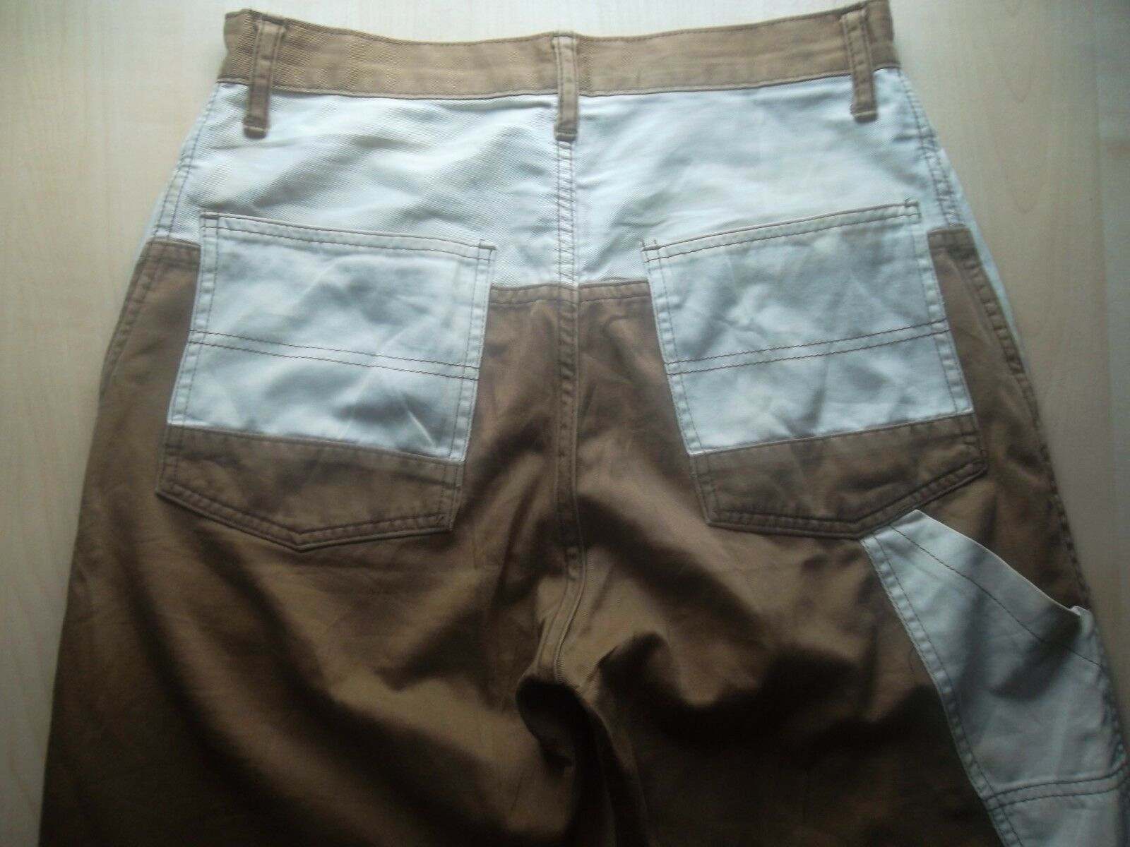 HYSTERIC GLAMOUR brown white pant jeans denim 28 made in japan vintage rare