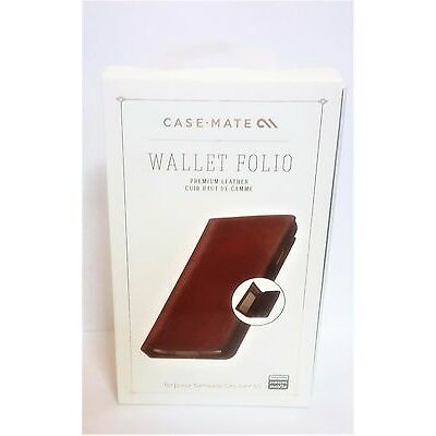 Case Mate Brown Leather Wallet Folio Case For Samsung Galaxy S5 (CM030861)