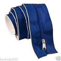 7'ft Blue Tarp Zip Up Zipper Door Peel & Stick Doorway 86l X 3w Great 4 Tents